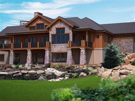 rustic house plans with walkout basement rabenburg rustic home ranch house plans house and basements
