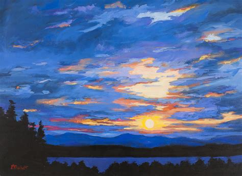 acrylic painting sky by patty baker original and commissioned