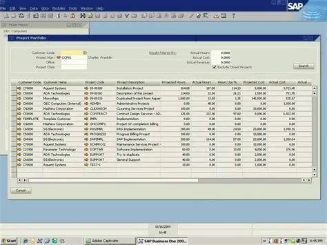 sap business one project accounting suite project portfolio management demonstration