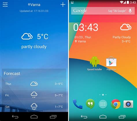 weather widget android the 20 best weather widgets you should check out