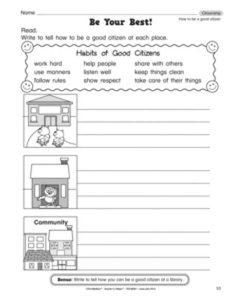 Citizenship Worksheets by Results For Citizenship Guest The Mailbox