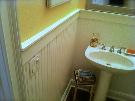 how to install a bathroom how to install beadboard wainscoting like a pro the