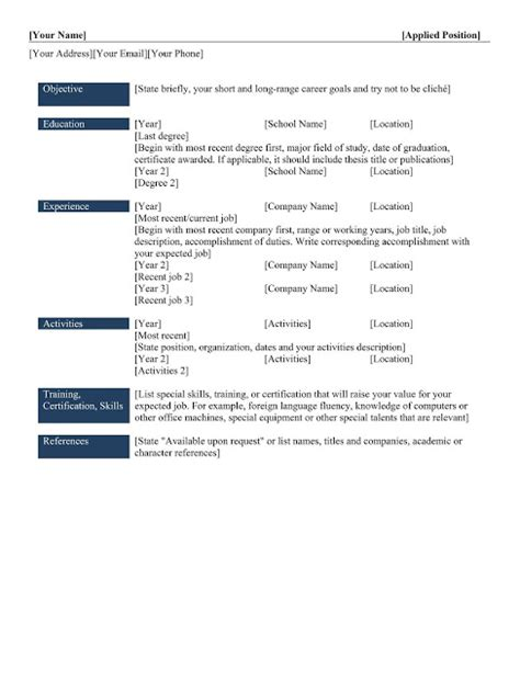 3 Resume Types by 3 Types Of Resume Types Of Resume Templates Monister