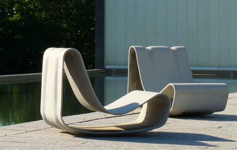 modern outdoor seating furniture concrete loop modern hi quality outdoor furniture designs