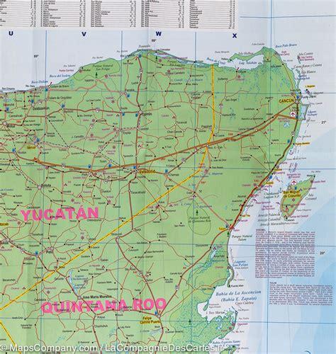 map southern mexico carte detaillee yucatan mexique