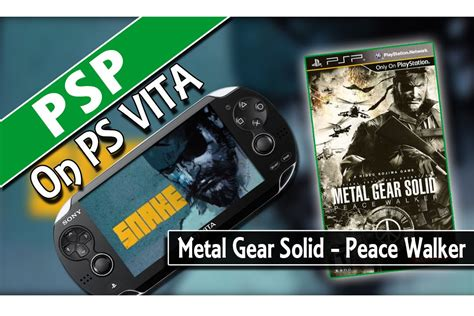 Po Import Console Psp Metal Gear Solid Peace Walker Premium psp on ps vita metal gear solid peace walker classic gaming on psvita