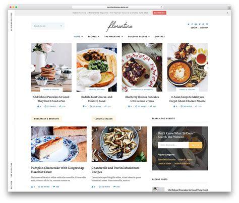 theme blog food 20 th 232 mes wordpress pour sites et blog de recettes