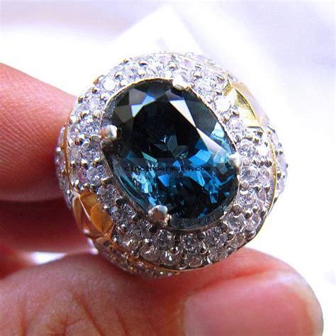 Cincin Blue cincin permata sparkling blue topaz cincinpermata