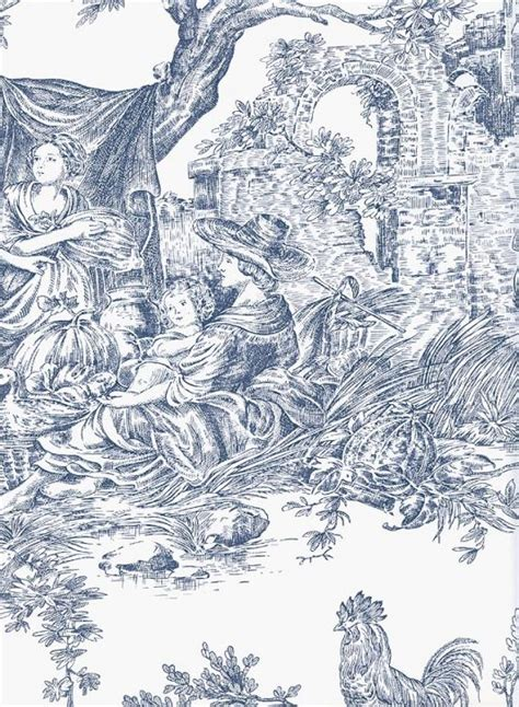 toile wallpaper toile and transfer ware pinterest