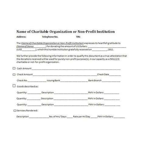 tax deductible donation form template charitable donation receipt sle cheer