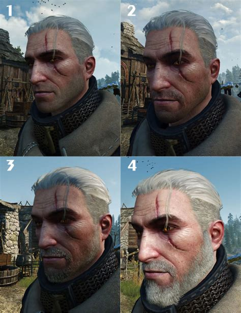 beard and hairstyles witcher 3 the witcher 3 hair styles and beard styles gaming gix