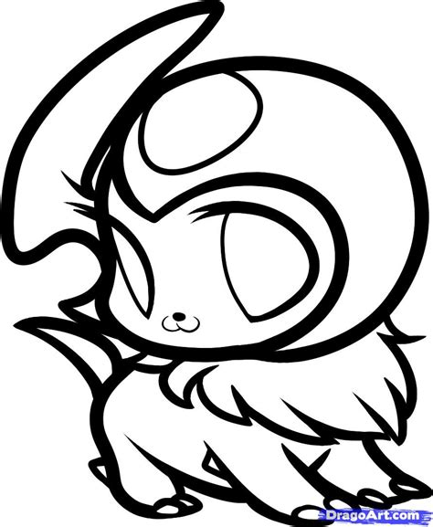 pokemon coloring pages of absol draw chibi absol absol step by step drawing sheets