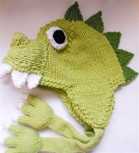 dinosaur knit hat dinosaur hat knit by wistfullywoolen craftsy
