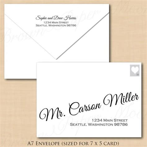 Change All Colors Calligraphy Address Wedding Envelope Template A7 Text Editable In A7 Envelope Template Microsoft Word