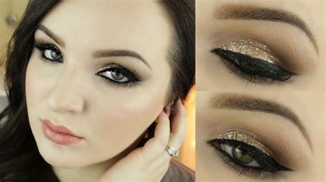 tutorial makeup revlon holiday gold glitter makeup tutorial ft revlon eye art