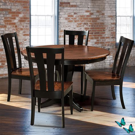 Amish Dining Room Set Vintage Amish Dining Room Set Amish Table 4 Chairs Cabinfield Furniture
