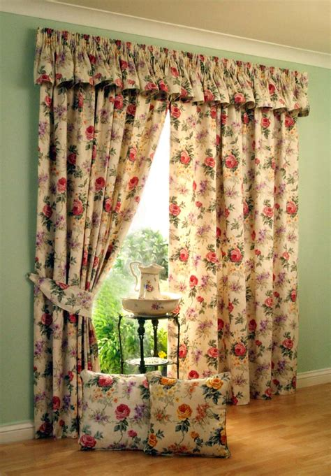 Floral Design Curtains 4 Kinds Of Vintage Window Curtains