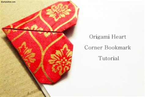 How To Make Corner Bookmarks With Paper - origami corner bookmark tutorial platter