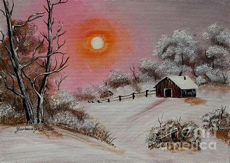 bob ross paintings winter warm winter day after bob ross by barbara griffin this is