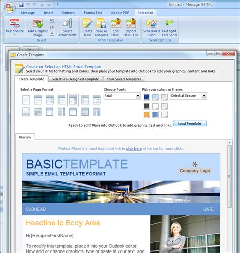 how do you create an email template in outlook 2010 outlook email template extension