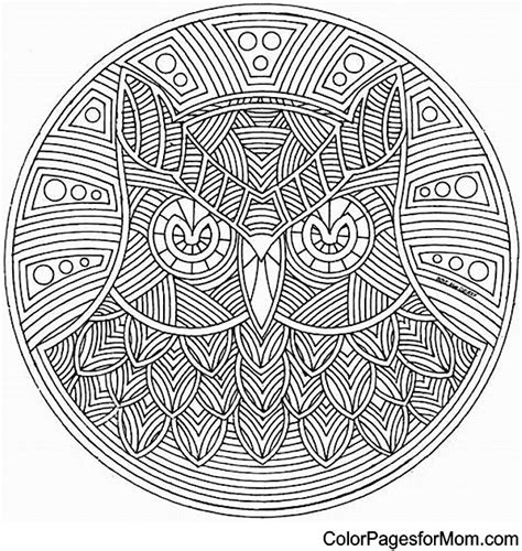 mandala coloring pages to color mandala 5 advanced coloring pages