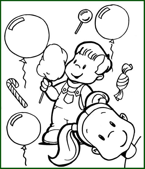 imagenes infantiles tamaño a4 ni 241 os para colorear infantil jugando con globos dibujos