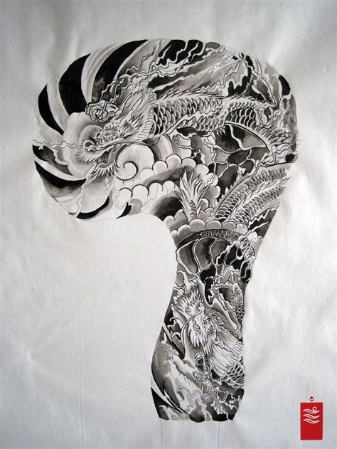 dragon sleeve tattoo designs 38 best sleeve flash images on arm