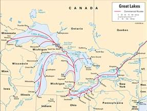 great lakes america map
