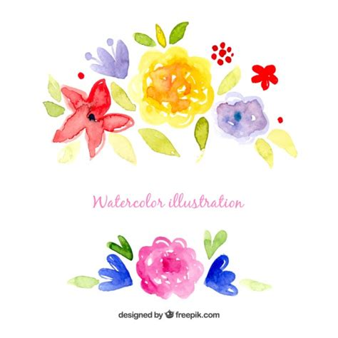 free vector watercolor flowers watercolor flowers illustration vector free download
