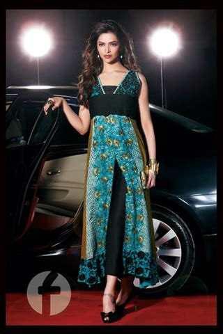 Shaista Wahidi Wardrobe by Deepika Padukone And Shaista Wahidi On Carnival Firdous Lawn Collection 2011 Pakistan