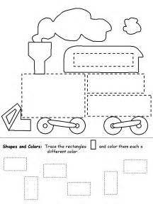 rectangle shape recognition practice worksheet teaching
