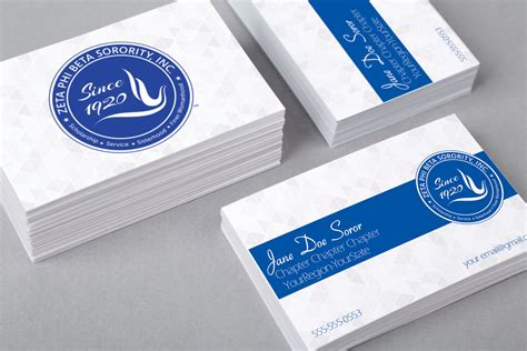 zeta phi beta colors white and blue zeta phi beta business card color me finer