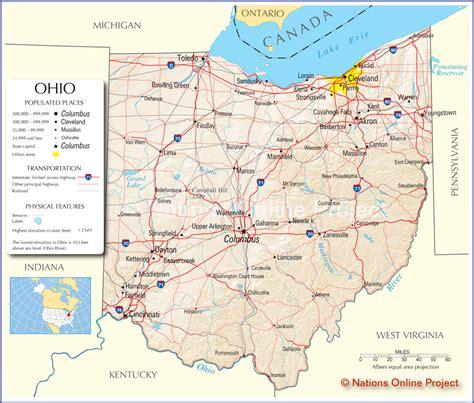 ohio map classmates in ohio