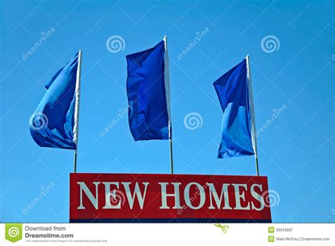 new homes sign royalty free stock photography image