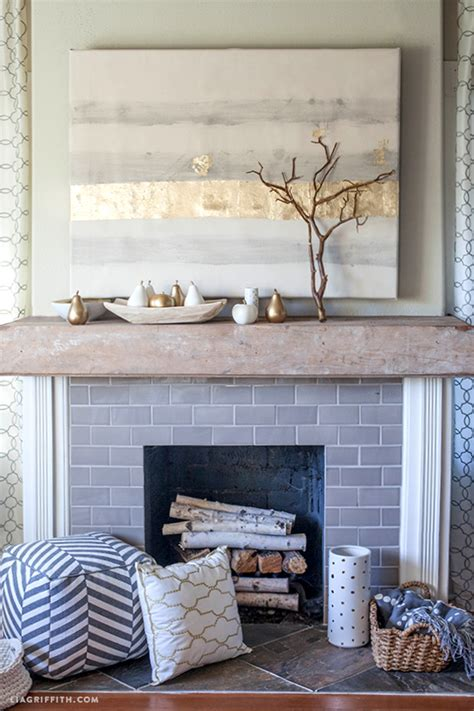 styling my diy rustic wood mantel for fall with diy