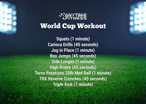kick with this world cup workout
