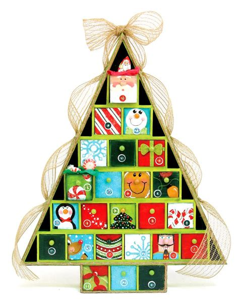 christmas countdown craft crafts countdown to advent tree craft adventcalendar