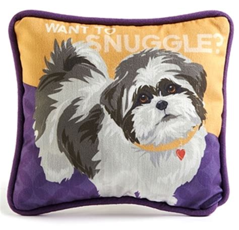 shih tzu pillow shih tzu decorative pillow 9 215 8 puppy cut ebay