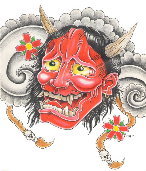 hannya mask tattoo book this was not drawn by me it is simple a design im getting