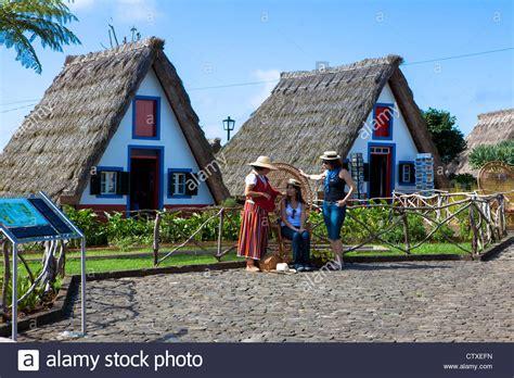 buy house madeira traditional palheiro house santana madeira portugal stock photo royalty free image