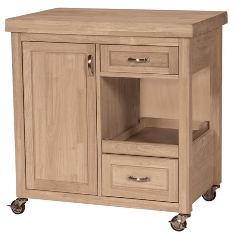 large butcher block rolling kitchen cart