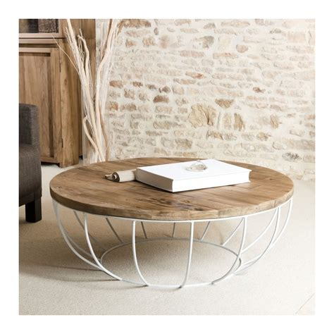 Table Basse Bois Ronde by Table Basse Ronde Bois Pied Blanc 100cm Tinesixe So Inside