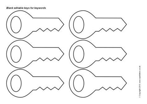 editable keys template black and white sb3053 sparklebox