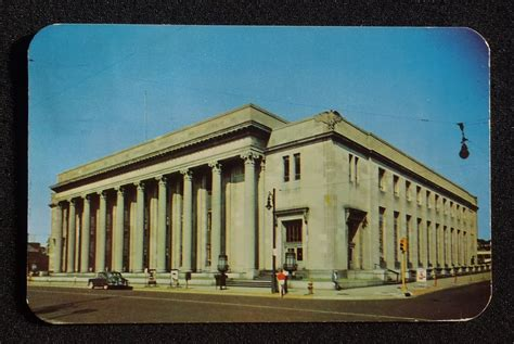 Rockford Post Office by 1952 Post Office And Federal Building Car Traffic