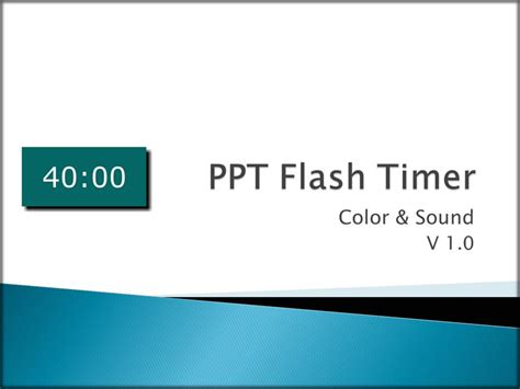 Ppt Flash Timer Color Sound Software Add Ons And Timer For Powerpoint Free