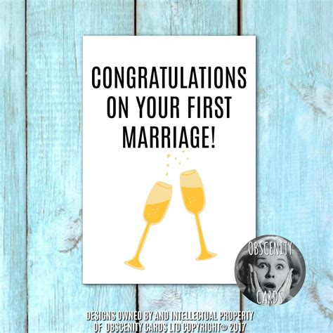 humorous wedding congratulations cards wedding card congratulations on your marriage