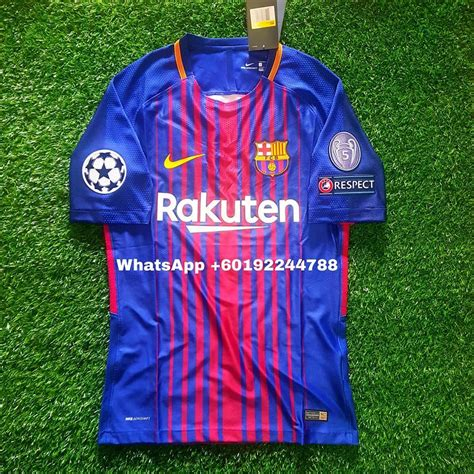 Jersey Barcelona Home 1617 Patch Ucl barcelona home jersey jersi 2017 18 end 7 1 2018 8 38 pm