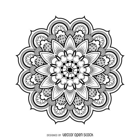 design drawing mandala design drawing free vector