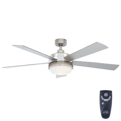 Home Depot Ceiling Fans With Remote by Hton Bay Sussex Ii 52 In Indoor Brushed Nickel Ceiling
