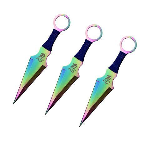Kunai 3pc 3pc rainbow kunai stainless steel throwing knives